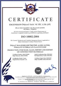 ISO 10002:2004 ( ERGENEKON )