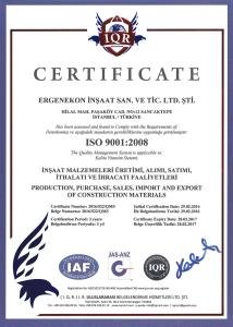 ISO 90001:2008 ( ERGENEKON )